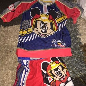 Mickey roadster racer bathing suit size 4